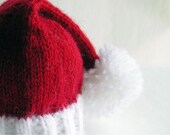 Baby Santa Hat, Photo Prop for your Christmas Baby, Christmas in July