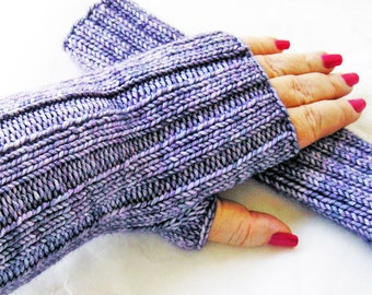 Outlander Claire Mitts, Hand Knit Fingerless Gloves, Women's Wrist Warmers, Merino Wool,Made To Order