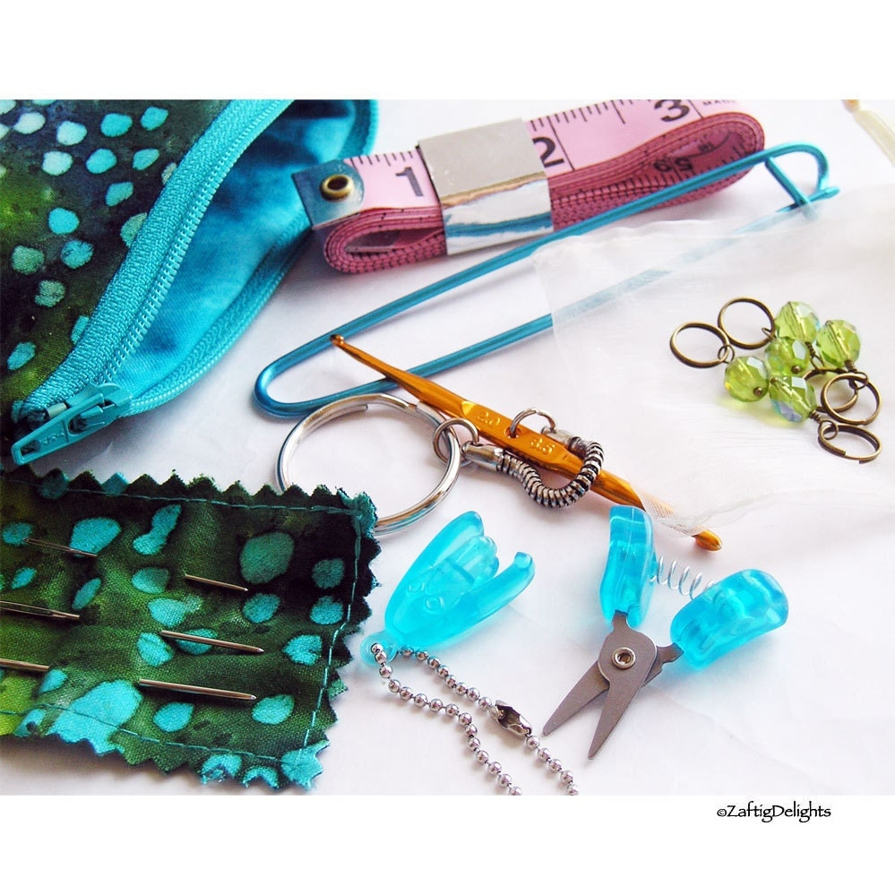 Knitting Tools Kit : Knitzy kit knitting tools carrying pouch scissors crochet