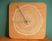 Tree Rings Clock - White
