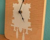 Silhouette Cuckoo Clock -White