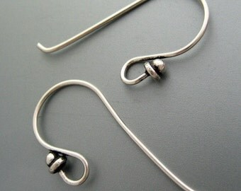 20 pcs (10 pairs) 21gauge oxidized Sterling Silver Ear Wires, hook (EBS102)