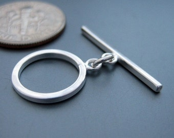 4 sets sterling silver toggle clasps (CSS302)