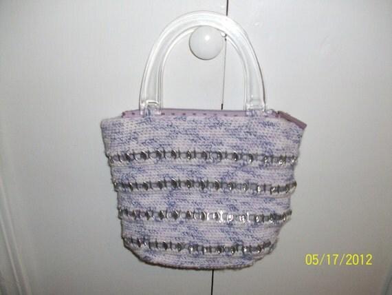 Purple Pop Top Crochet Purse