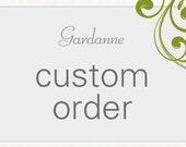 Sara's Custom order