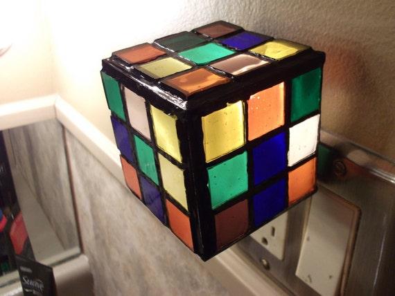 Rubik's Cube Night light/ Candle holder.