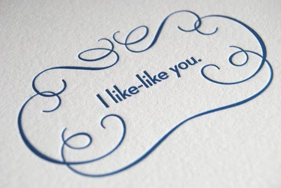 I Like-Like You card