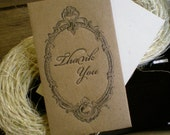Mini Thank You Note Envelope Letterpress - 4 pack