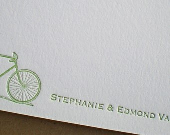 Custom Motif Letterpress Stationery Notes - set of 25