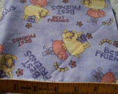 Fabric piece--Pigs, sheep, bunny, cat, ducks.