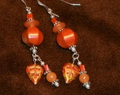 Red Jasper and Carnelian Earrings