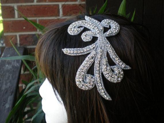 THE BRIDE - Genuine Sparkling Rhinestone and Beaded Headband