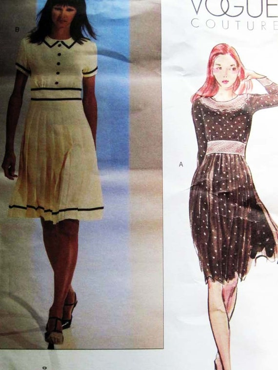 Vogue Couture Dress Pattern 2632 UNCUT