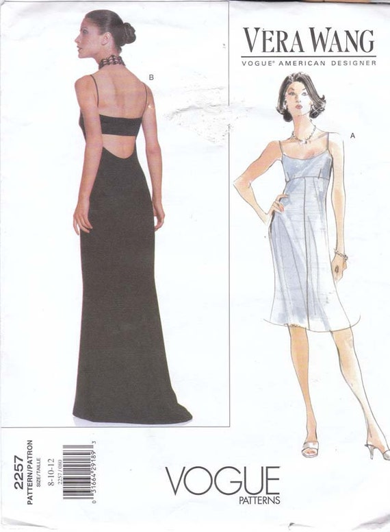 Vera Wang cocktail or evening dress pattern - Vogue 2257