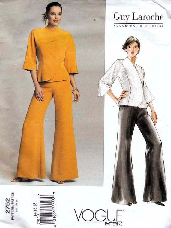 Vogue 2752 Paris Original Guy Laroche Jacket and Pants Pattern Uncut