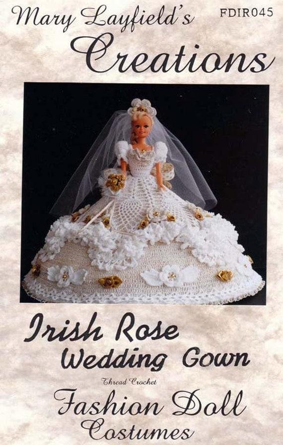 Crochet Wedding Dress Pattern : Crochet Barbie Doll Wedding Dress Mary Layfields Creation Pattern ...