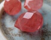 Cherry Quartz Briolettes - Medium Size