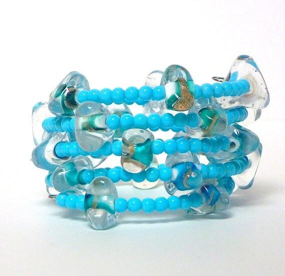 Beaded Coil Bracelet BUBBLES  Beading Divas Fundraiser