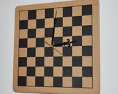 SALE 50% off Wood Checkerboard Clock