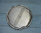 SALE - Antique European Silver 'Powder Compact