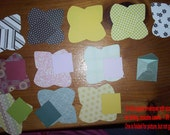 12 Square  mini envelopes with inserts, die cut