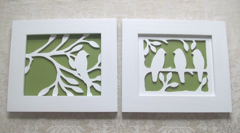 Items Similar To Two Piece Bird Wood Wall Decor Art