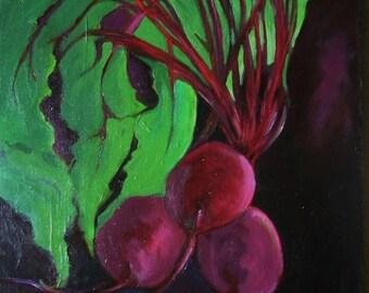 Original Oil Painting, 'Beets'