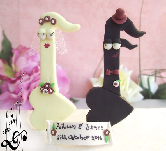 Items Similar To Music Notes Wedding Cake Toppers