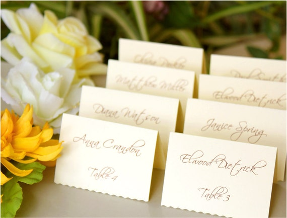 Items similar to wedding place cards tented escort cards for Place card for wedding