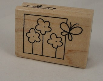 Flutter Flowers Window stamp by Stampendous