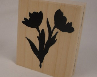 Tulips stamp by Cornish Heritage Farms