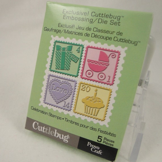 Cuttlebug Celebration Stamps embossing and die set