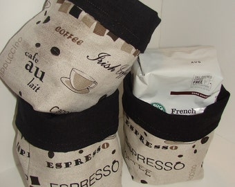 Coffee Linen Basket, reversible, great gift idea, Finland,