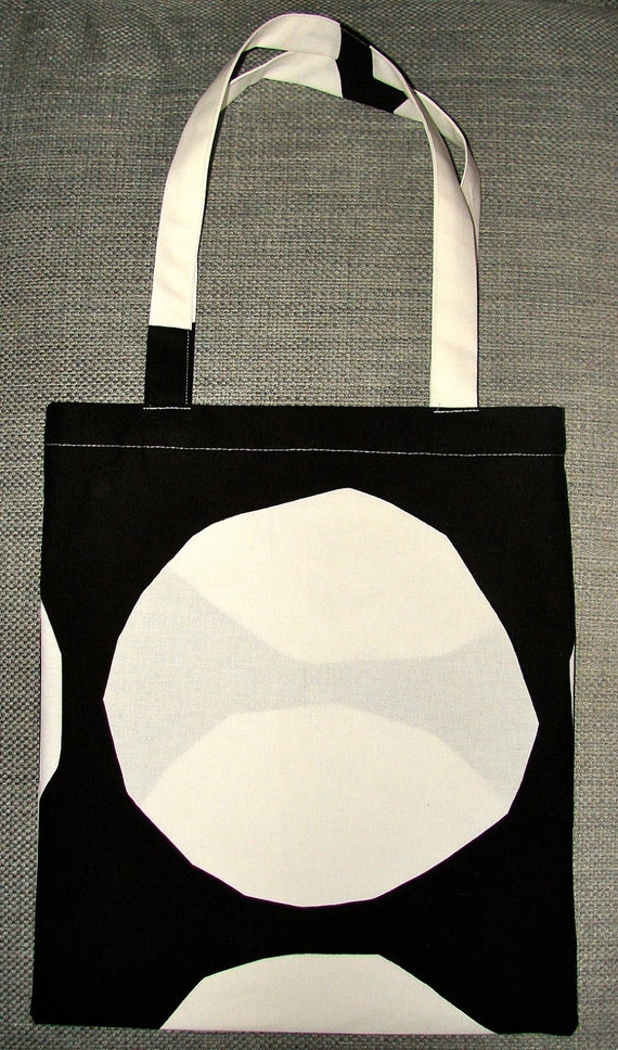 Black and White Kivet shopping tote/bag from Finland