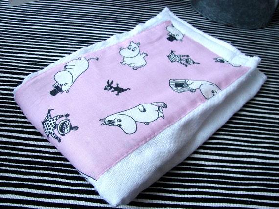 Pink Moomin  Baby Girl  Infant Burp Cloth, Finland