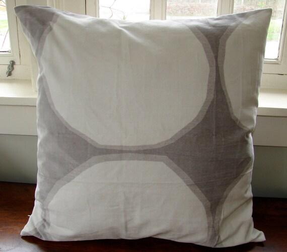 """Khaki gray Kivet Velvet pillow case, super soft 18x18"""", 45x45cm, Finland"""