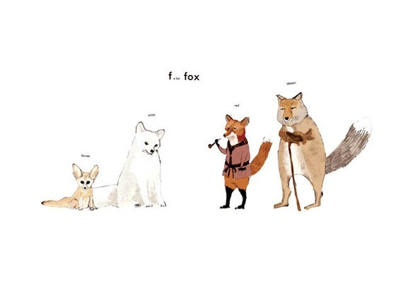 F is for Fox Print