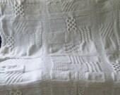 White bridal sampler afghan