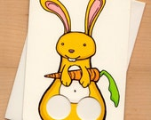 Bunny - Finger puppet Greeting card