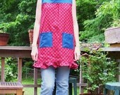 kitchen dress in red and blue (med)