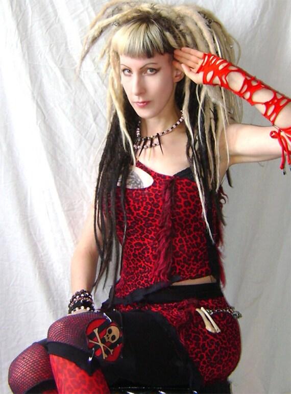 Cave Girl apocalypse top cyber punk gothic voodoo