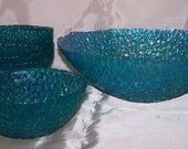 Hand Painted Tempered Glass Salad or Dessert Bowls on sale July