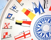 MeLMaC PLaTTeR . NauTiCaL FLaGs . MoRSe CoDe . CoMPaSS . MiD CeNTuRY WaLL DeCoR or  SeRViNG RouND