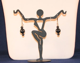 Elegant Hematite Stone Earrings