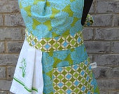 Springy Green/Blue Floral Apron