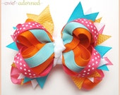 M2MG Spring Sparkle Layered Boutique Bow
