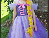 Tangeld Rapunzel Inspired Dress- Braid Included