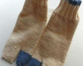 Tabi Socks - Blue and White - Medium
