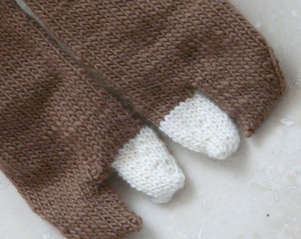 Latte (Extra Foam) Wool Tabi - Small
