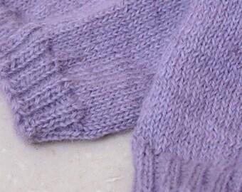 Alpaca Socks - Lilac/Lavender - Small
